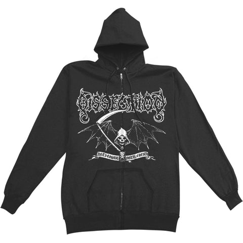 Dissection Men's  Reaper Zippered Hooded Sweatshirt Black