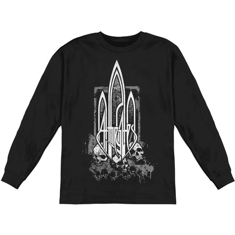 At The Gates Men's  Pile Of Skulls  Long Sleeve Black