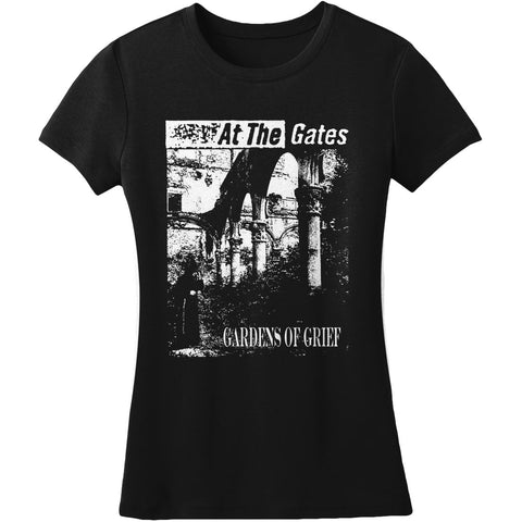 At The Gates  Gardens Of Grief Junior Top Black