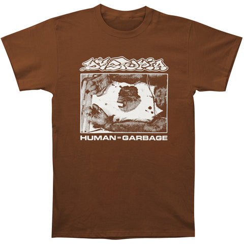 Dystopia Men's  Human=Garbage T-shirt Chocolate