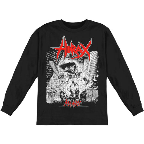 Hirax Men's  Maniac  Long Sleeve Black