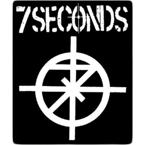 7 Seconds Men's Logo Back Patch Black