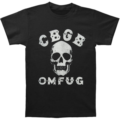 CBGB Men's  Skull T-shirt Black