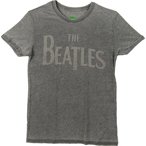 Beatles Men's  Drop T T-shirt Grey