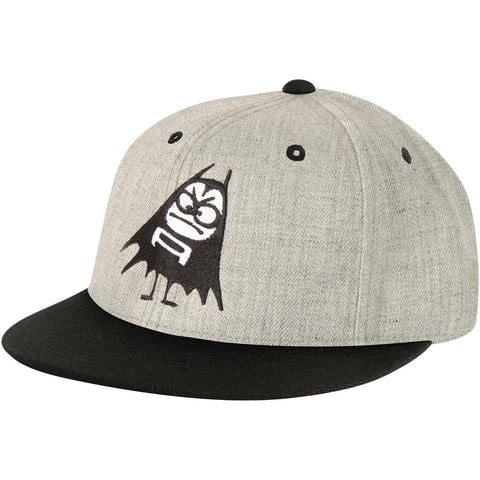 Aquabats Men's  Bat Snapback Hat Baseball Cap Grey/Black Rockabilia