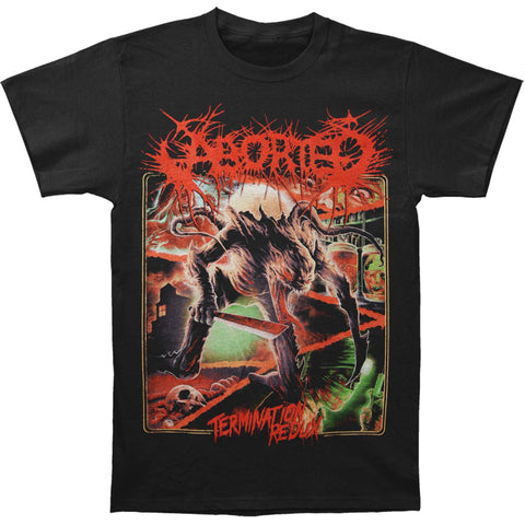 Aborted Men's  Termination Redux T-shirt Black