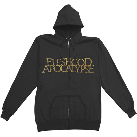 Fleshgod Apocalypse Men's  Laurel Zippered Hooded Sweatshirt Black