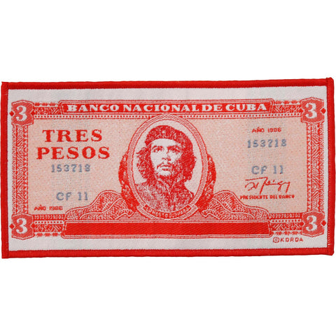 Che Guevara Men's Tres Pesos Woven Patch Red