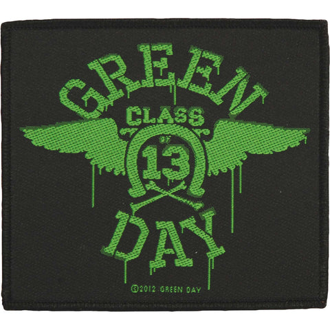 Green Day Men's Neon Wings Woven Patch Black