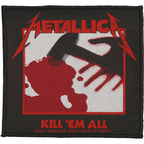 Metallica Men's Kill 'Em All Woven Patch Multi