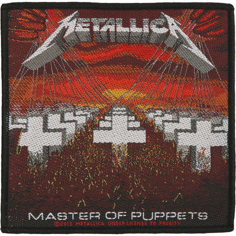 Metallica Men's Master Of Puppets Woven Patch Multi