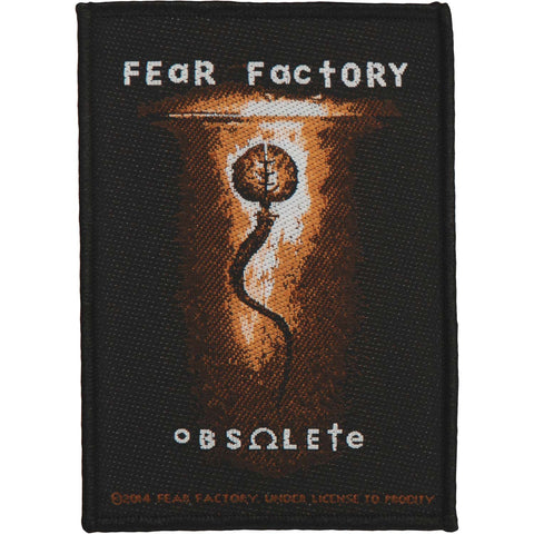Fear Factory Men's Obsolete Woven Patch Black
