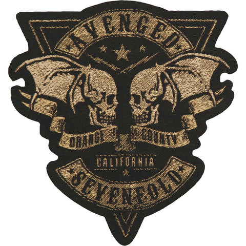 Avenged Sevenfold Men's Orange County Cut Out Woven Patch Black