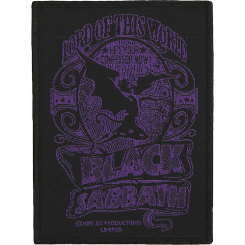 Black Sabbath Men's Lord Of This World Woven Patch Black