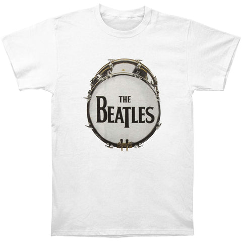 Beatles Men's  Original Drum Skin T-shirt White