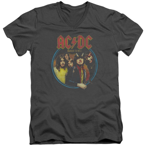 AC/DC Men's  Highway To Hell Slim Fit T-shirt Grey
