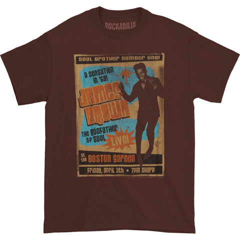 James Brown Men's  Soul Brother Number One T-shirt Brown