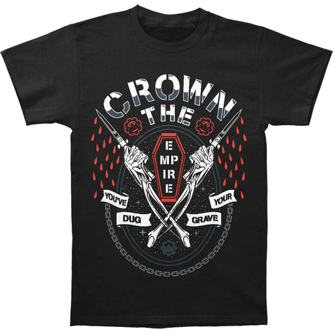 Crown The Empire Men's  Grave Slim Fit T-shirt Black