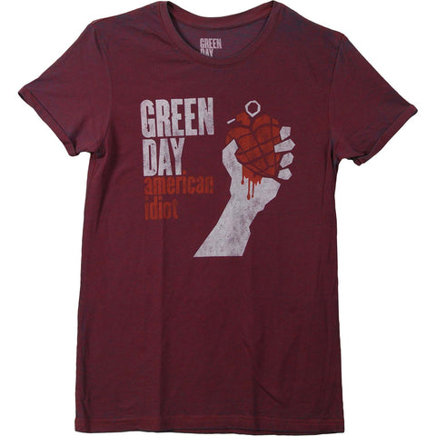 Green Day Men's  American Idiot Vintage T-shirt Multi
