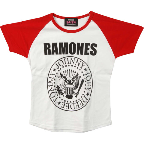 Ramones  Presidential Seal Junior Top Red/White