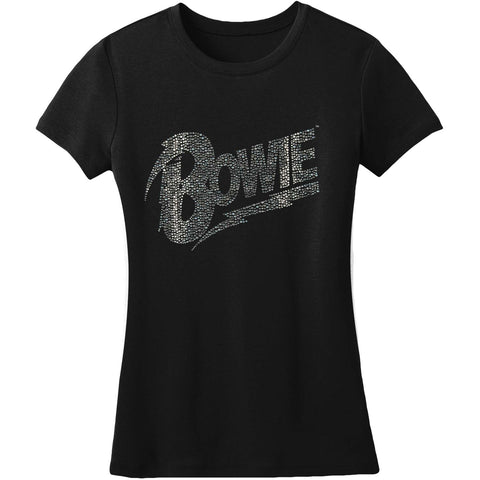 David Bowie  Flash Logo Junior Top Black