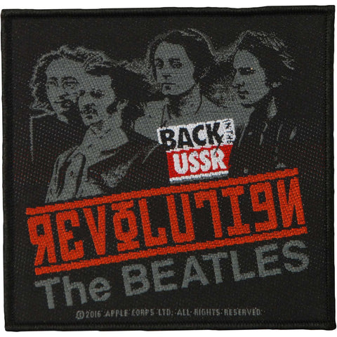 Beatles Men's Revolution Woven Patch Black