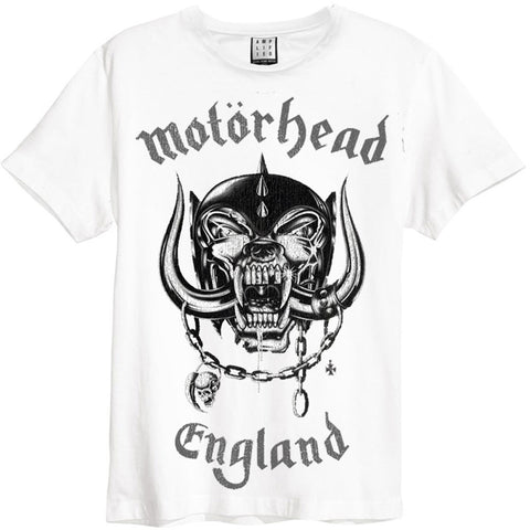 Motorhead Men's  England Slim Fit T-shirt White