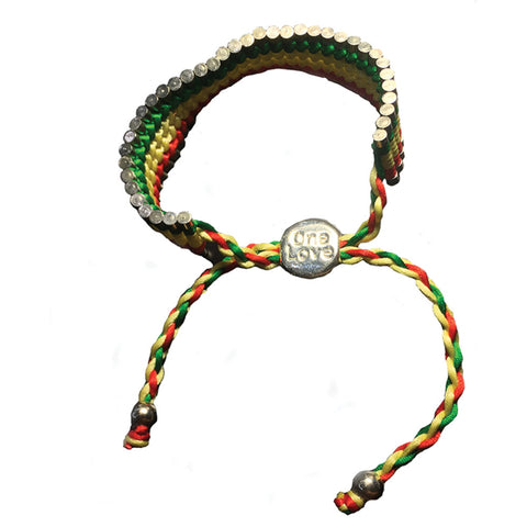 Bob Marley Men's  One Love Links Of London Wristband Multi