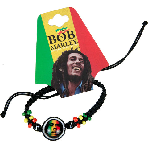 Bob Marley Men's  Gradient Face Wristband Black