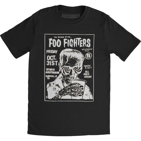 Foo Fighters Men's  The Return Of Mens Soft T Slim Fit T-shirt Black