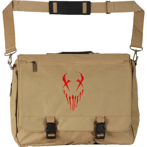 Mushroomhead X-Face Tan With Red Messenger Bag Tan