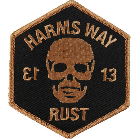 Harm's Way Men's 13-Negative Embroidered Patch Black