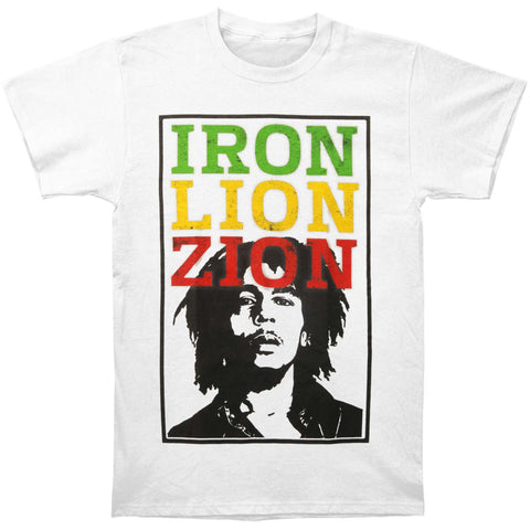 Bob Marley Men's  Iron Distressed Letters T-shirt White