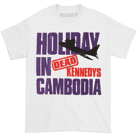 Dead Kennedys Men's  Holiday In Cambodia T-shirt White