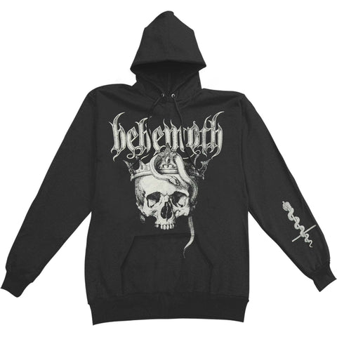 Behemoth Men's  Skull Pullover Hooded Sweatshirt Black