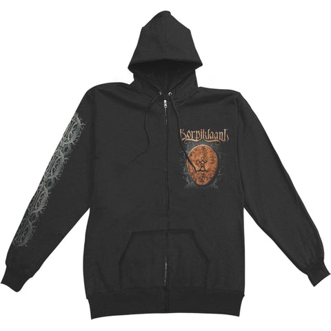 Korpiklaani Men's  Shaman Drum Zippered Hooded Sweatshirt Black
