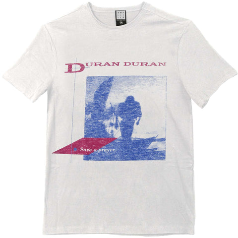 Duran Duran Men's  Save A Prayer Slim Fit T-shirt White