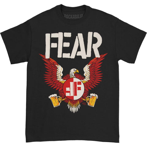 Fear Men's  Fear - Beer Eagle T-shirt Black