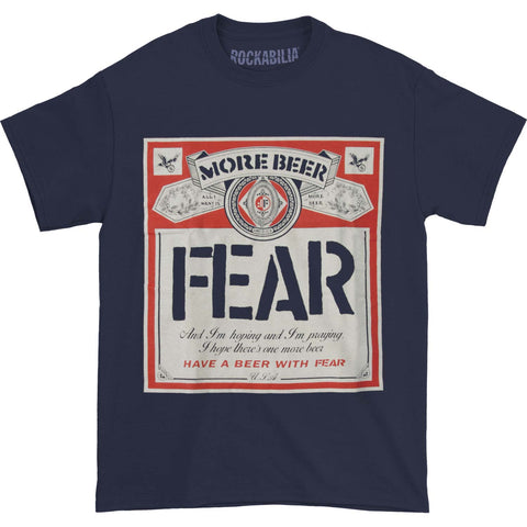 Fear Men's  Fear - Beer Label Navy T-shirt Navy
