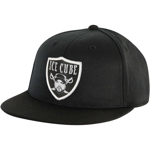 Ice Cube Men's  Raider Snapback Hat Baseball Cap Black