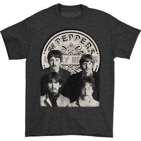 Beatles Men's  Sgt Pepper Group Photo T-shirt Grey