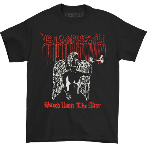 Blasphemy Men's  Blood Upon The Altar T-shirt Black