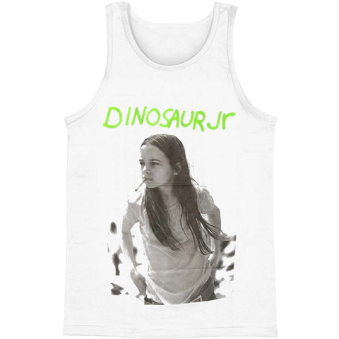 Dinosaur Jr Men's  Green Mind Mens Tank White
