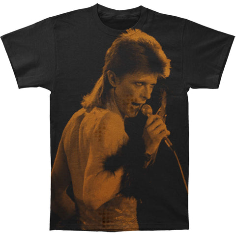 David Bowie Men's  Icon Slim Fit T-shirt Black