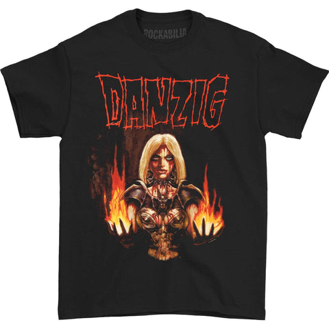 Danzig Men's  Black Laden Crown T-shirt Black