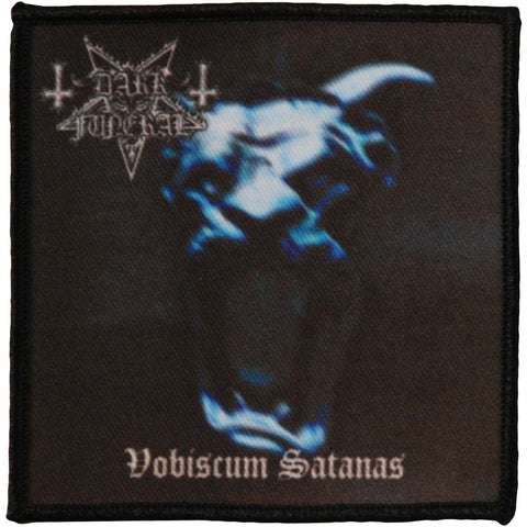 Dark Funeral Men's Vobiscum Patch 4x4 Woven Patch Black