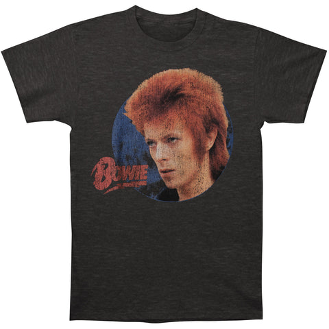 David Bowie Men's  Bowie Stare T-shirt Charcoal