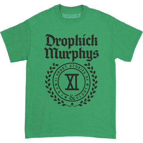 Dropkick Murphys Men's  Short Stories Crest T-shirt Kelly