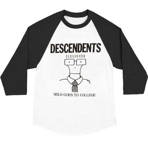 Descendents Men's  College Baseball Jersey Black/White