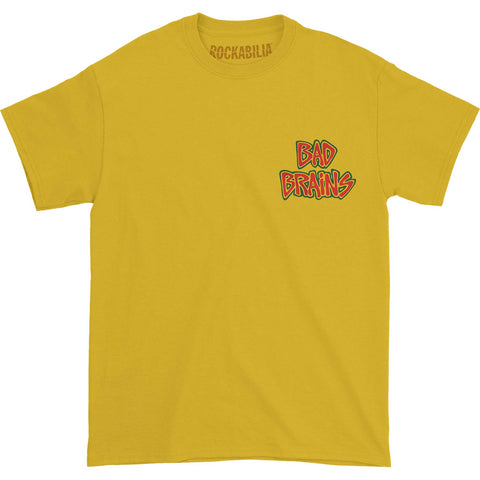 Bad Brains Men's  Logo Front on Yellow T-shirt Yellow